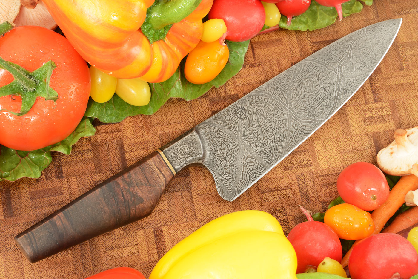 Integral Damascus Chef's Knife (6-2/3 in) with Beefwood