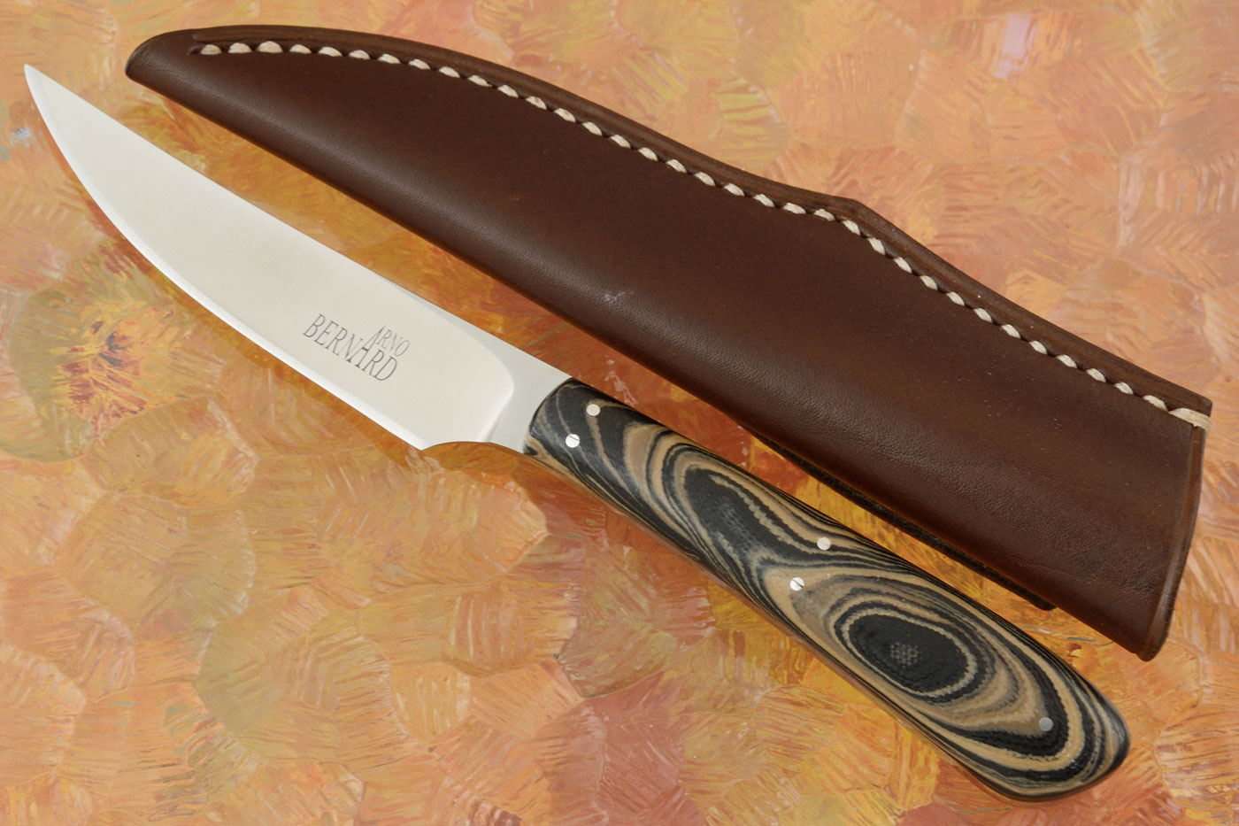 Bird & Trout with Brown/Black Camo G-10