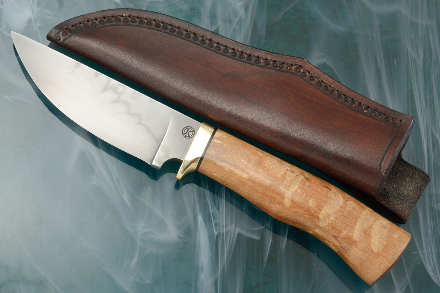 Honyaki Hunter with Quilted, Spalted Myrtle