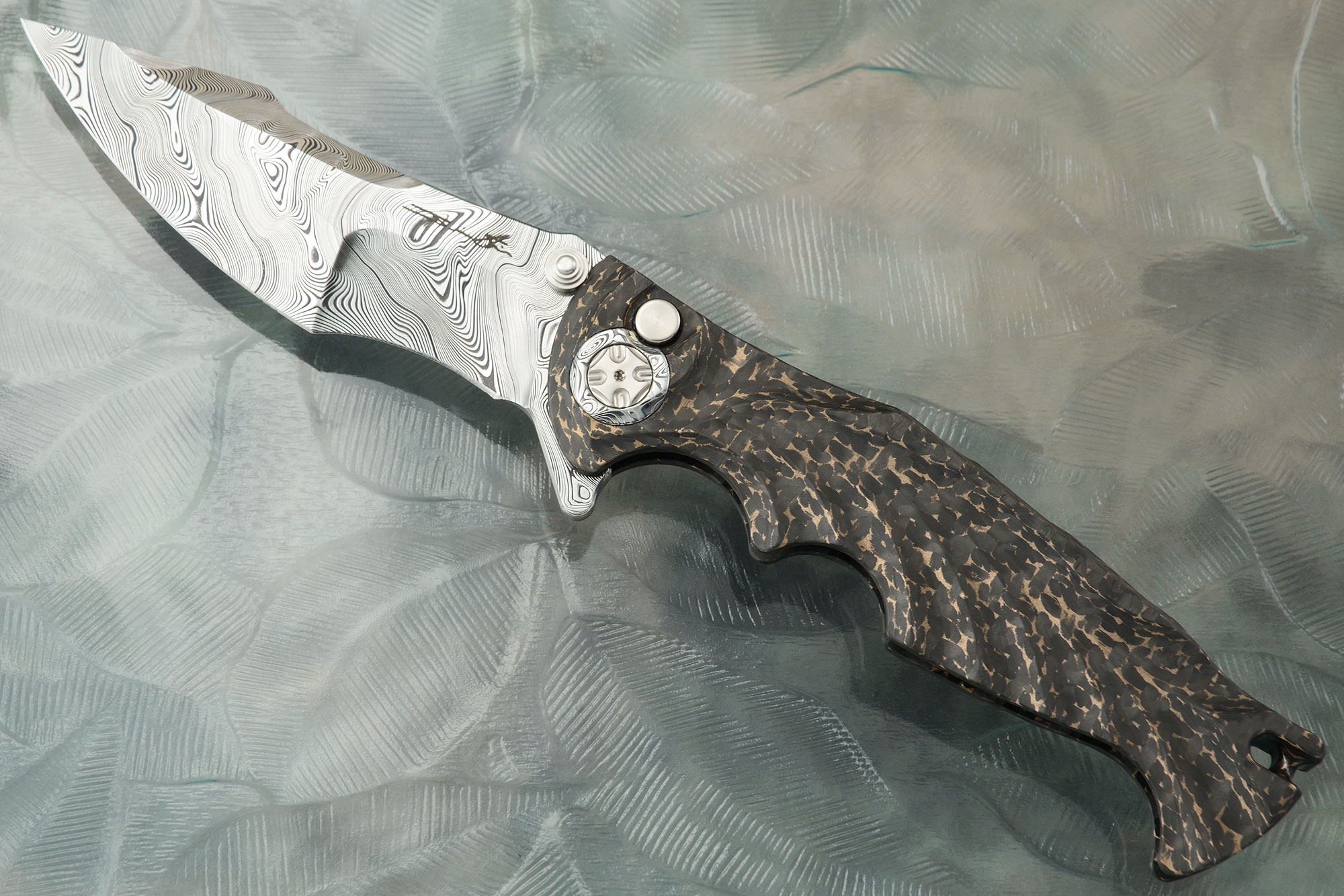 Tighe Breaker Integral with Bronze Infused Carbon Fiber and Damasteel