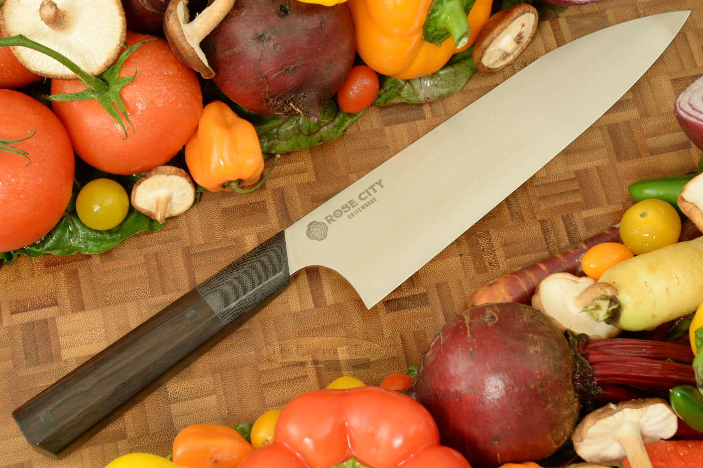 Swift Chef's Knife (Gyuto) -- 8-1/4 in. -- with African Blackwood -- AEB-L Stainless Steel