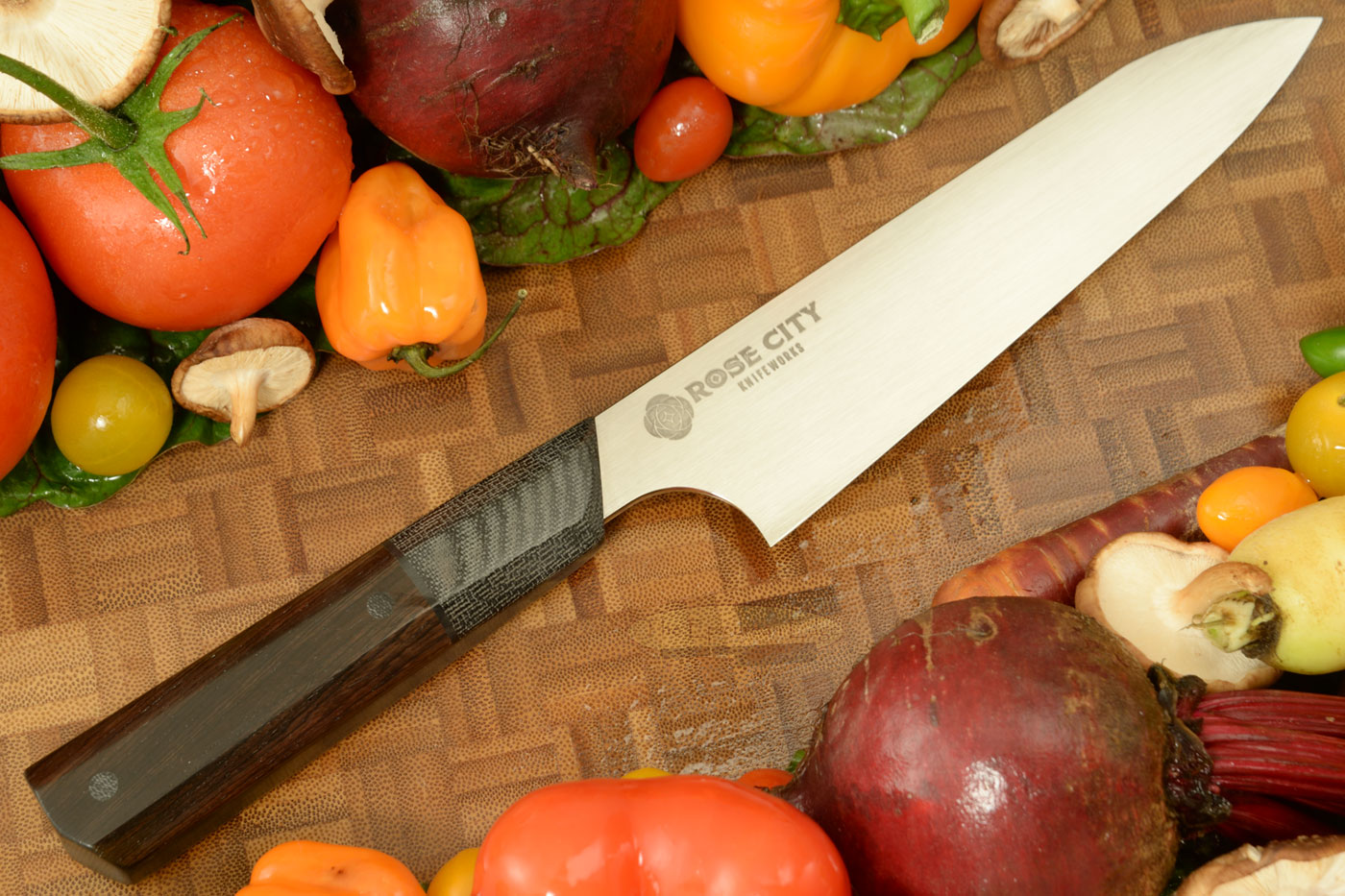 Swift Chef's Knife (Gyuto) -- 6-1/8 in. -- with African Blackwood -- AEB-L Stainless Steel