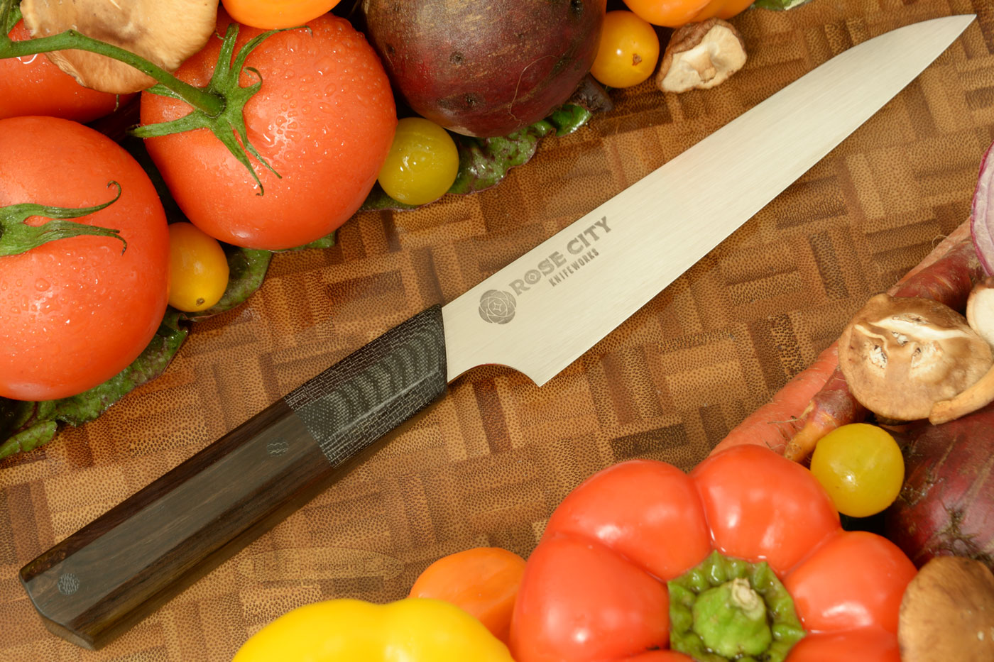 Utility Knife (Petty) -- 6 in. -- with African Blackwood -- AEB-L Stainless Steel