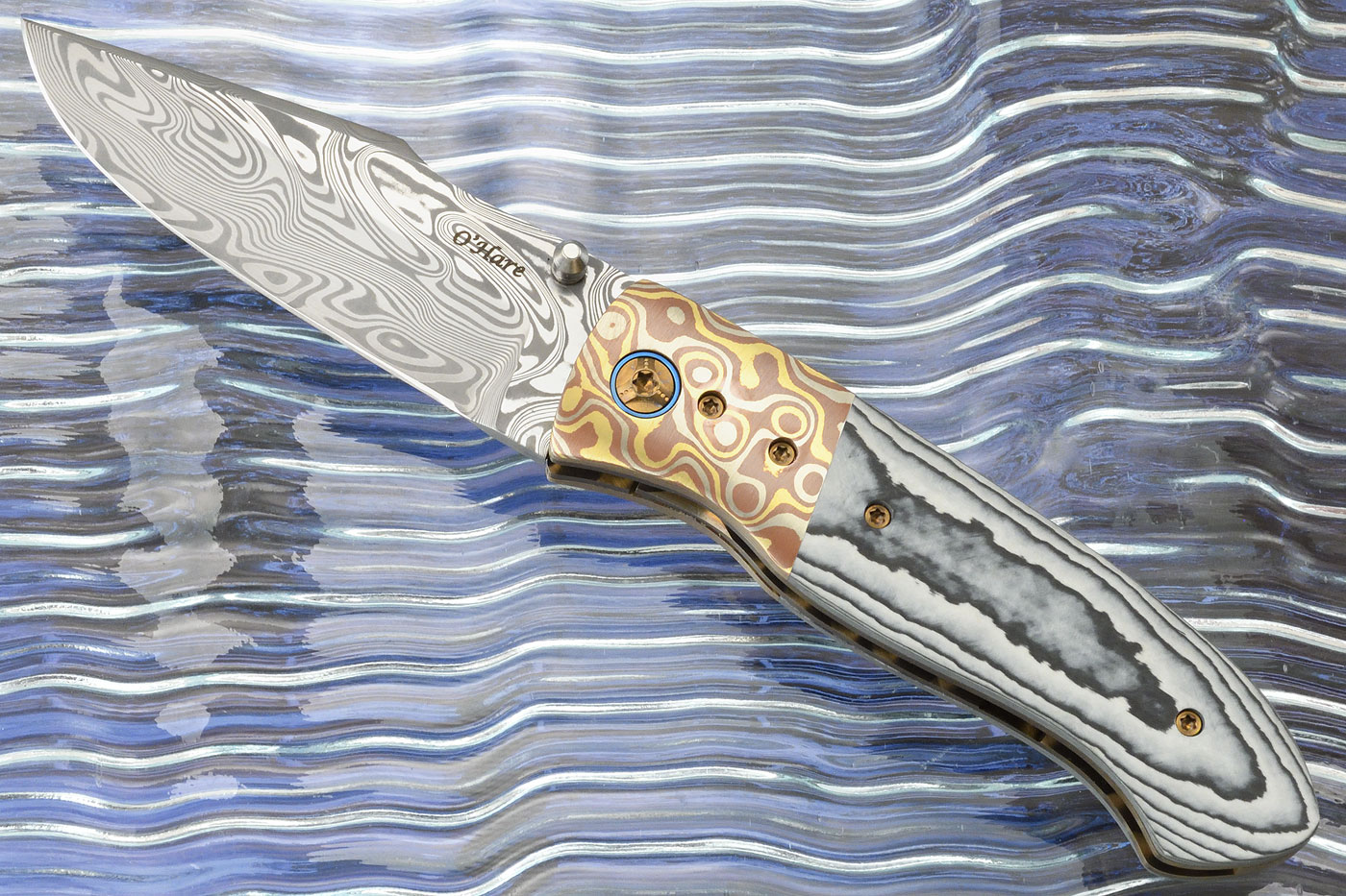 F2K with TPT Carboquartz, Mokume, and Damasteel