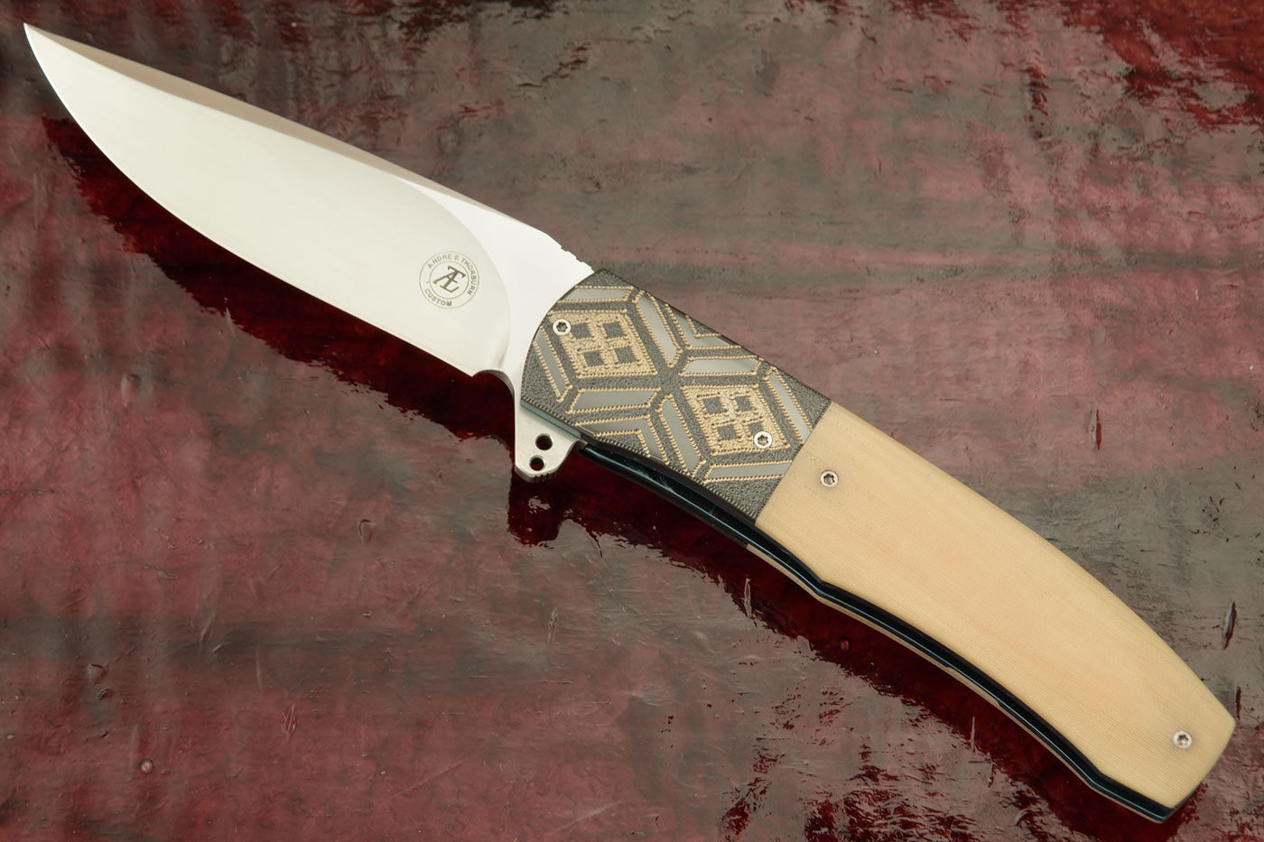 L45 Flipper with Bone Ivory G10 and Zirconium (IKBS) - CTS-XHP