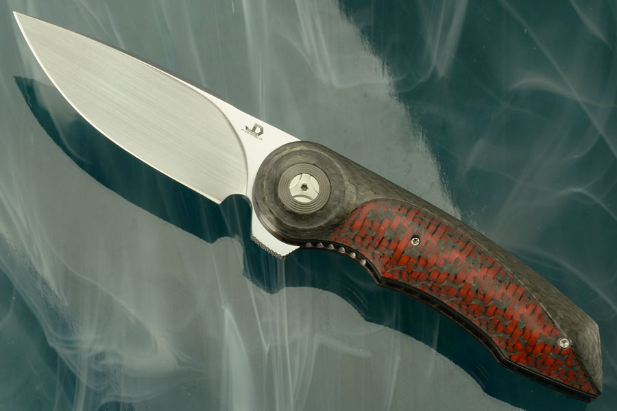 Gold Mini Flipper with Red Carbon Fiber (IKBS)