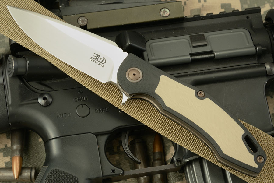 H4 Flipper with Black and Tan G10 - ELMAX