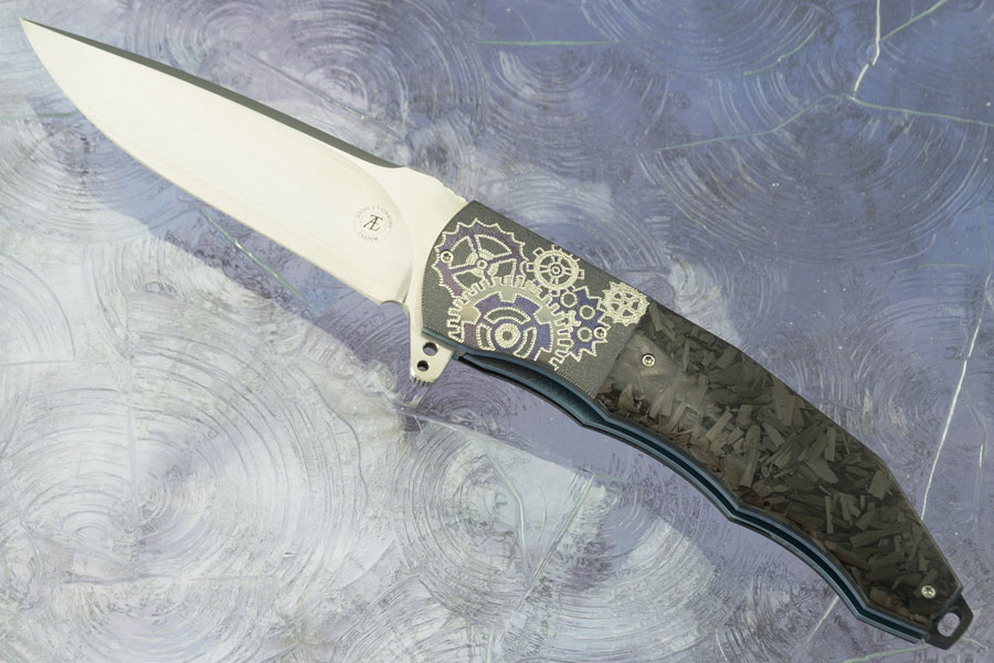 L53 Flipper with Shred Carbon Fiber and Zirconium (Ceramic IKBS) - CTS-XHP