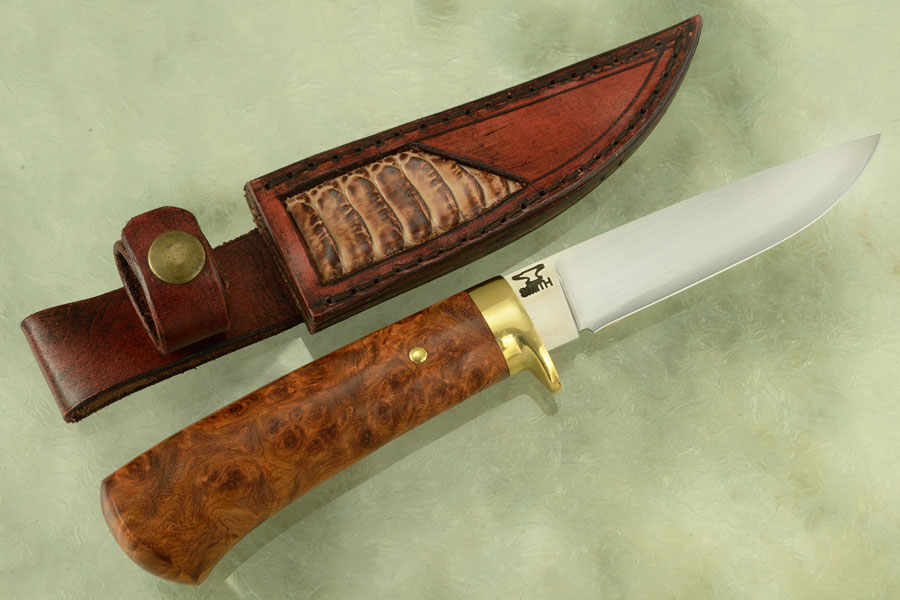 Drop Point Hunter (Model LR) with Amboyna Burl