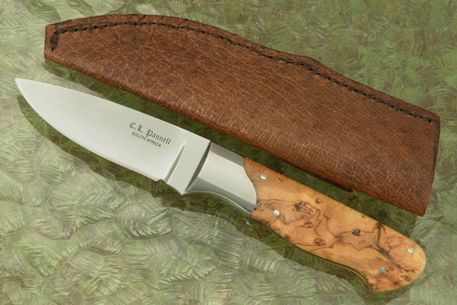 Drop Point Hunter with Wild Olive Wood
