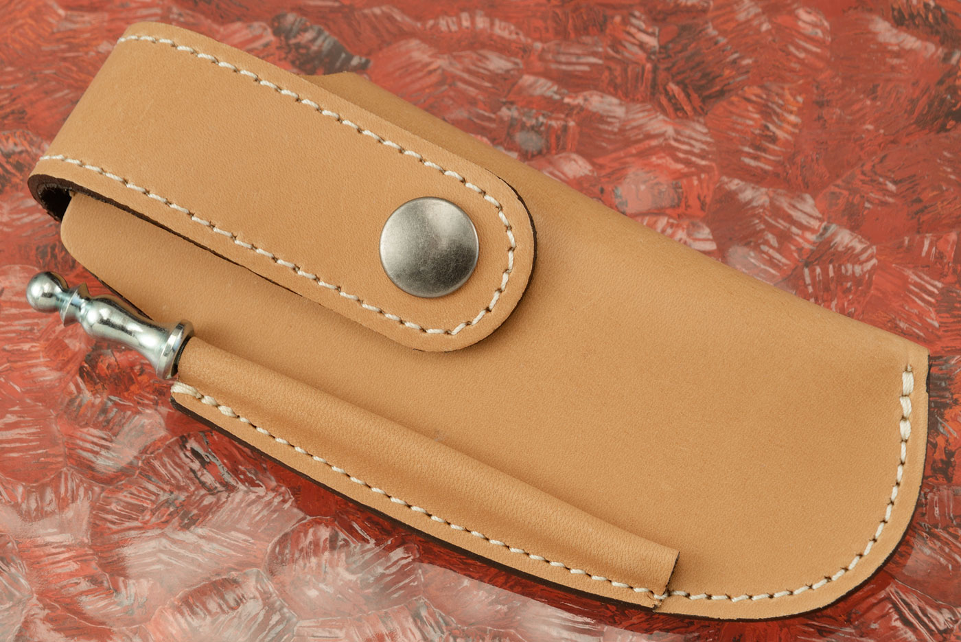 Belt Pouch for Laguiole Magnum Corkscrew, Brown Leather