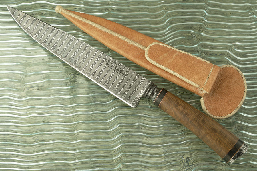 Integral Damascus Cuchillo Gaucho with Lapacho