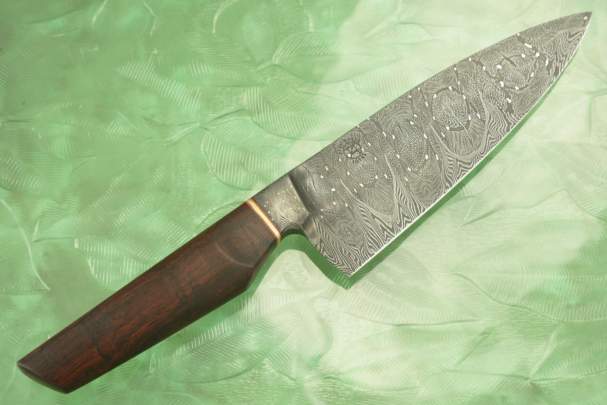 Integral Damascus Chef Knife (6-1/2 in) with Cocobolo