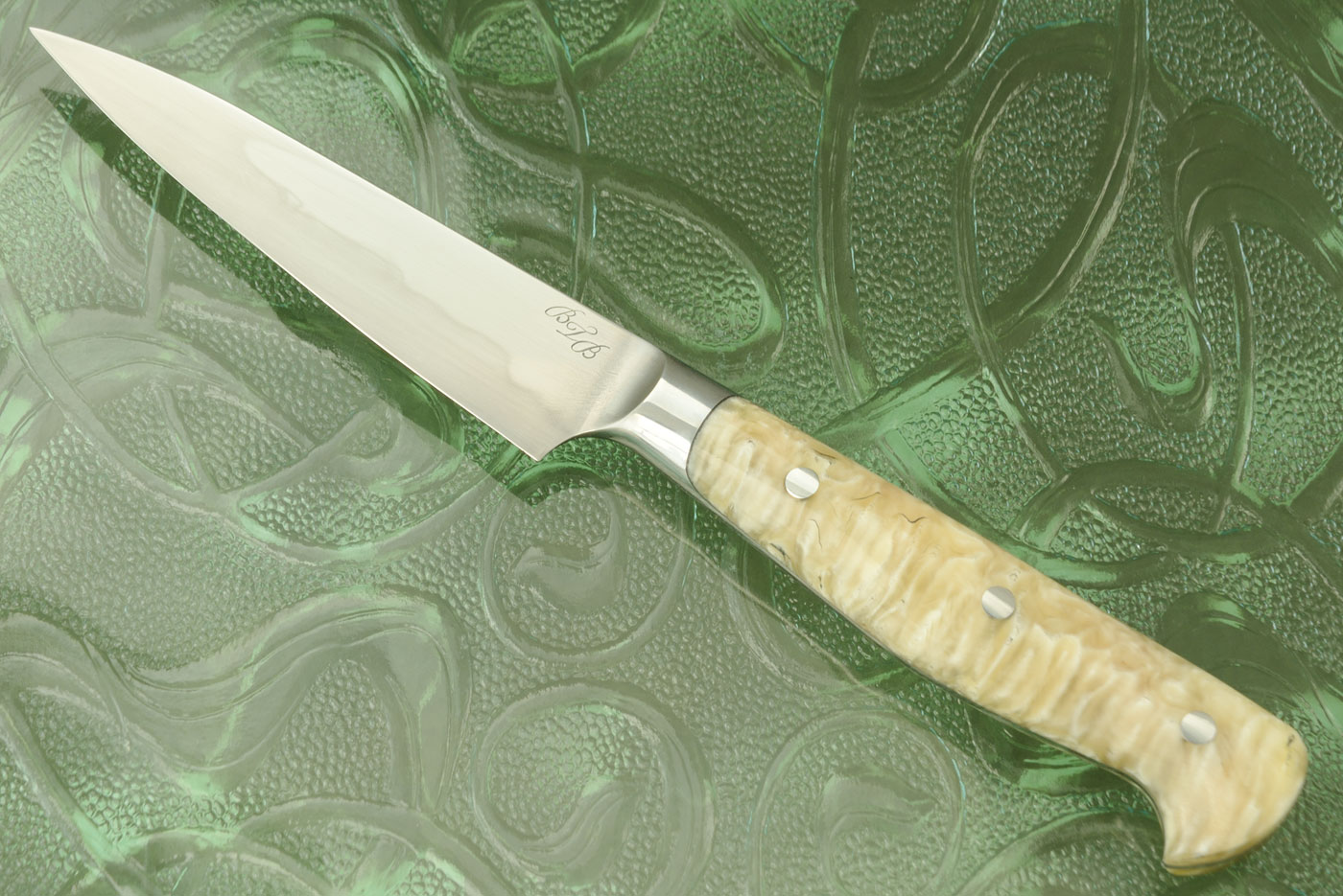 Honyaki Paring Knife (4 in.) with Muskox Horn