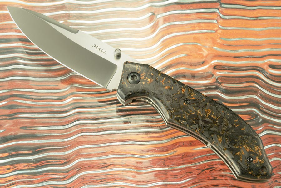 Viceroy Folder with Copper Shred Carbon Fiber