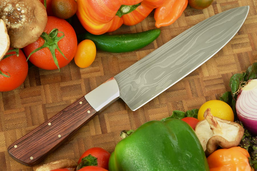 Damascus Chef's Knife (6-1/4 in.) with Kingwood