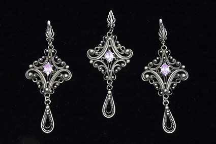 Muscovite Princess Pendant and Earring Set