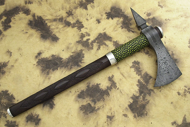 Dress Blackwood Damascus Tomahawk Spike