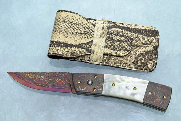 Double Bolster Pearl Button Release Folder