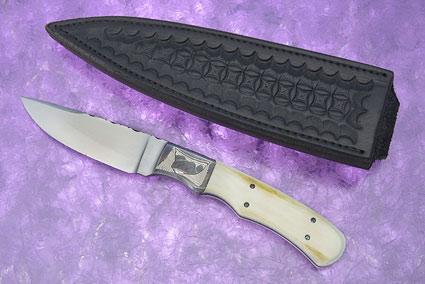 Mountain Scene Batwing Fighter (Journeyman Test Knife)