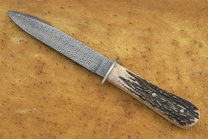 Damascus & Stag Bowie