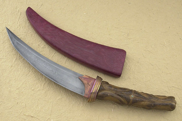 Carved Oosic Persian Tanto
