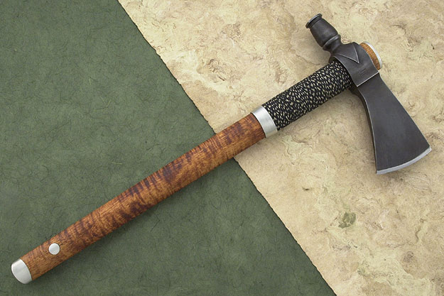 Hammer Pole Tomahawk with Eastern Curly Maple