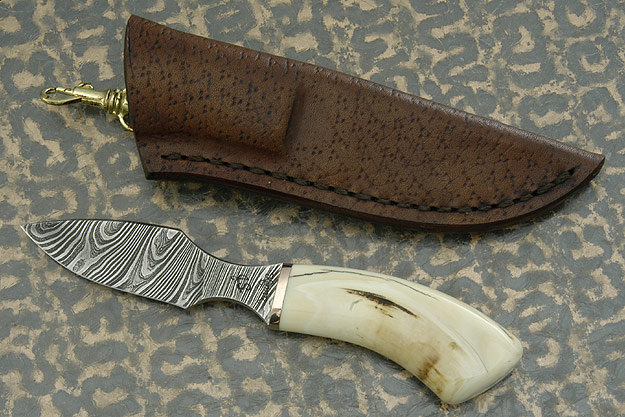 Twist Damascus Warthog Veldt Knife