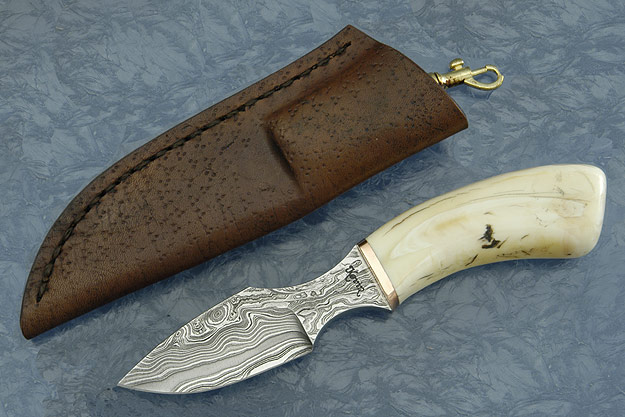 Random Pattern Damascus Warthog Veldt Knife