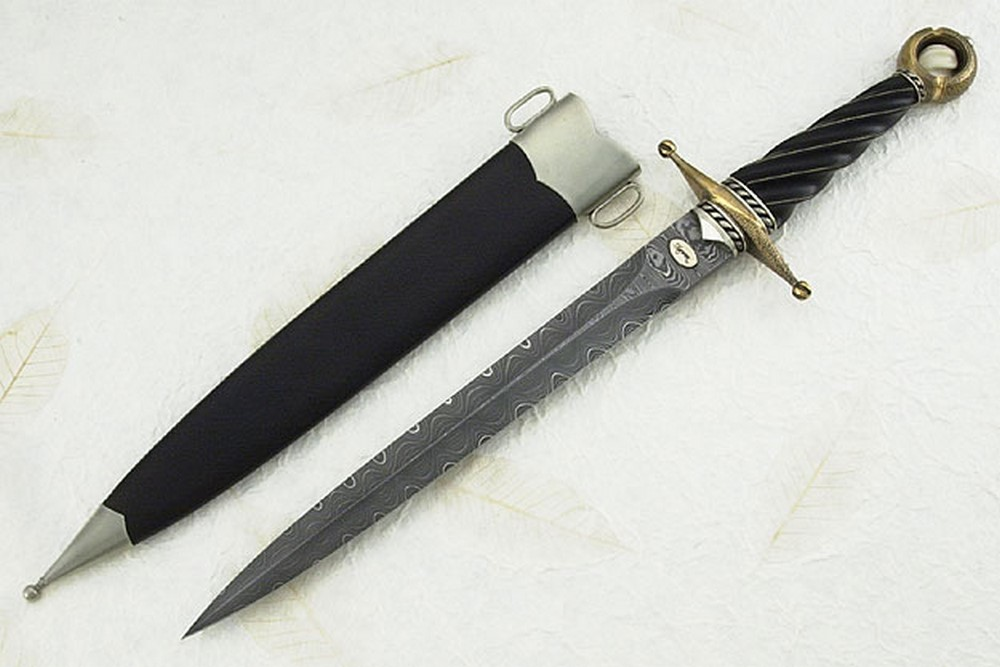 Ladder and Flash Quillion Dagger (Mastersmith Test Knife - B.R. Hughes Award Knife)