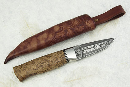 Birch Burl Swedish Hunter