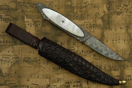 Full Tang San Mai Damascus Hunter