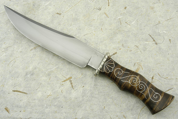 Curly Maple Moran Style Bowie (Journeyman Test Knife)