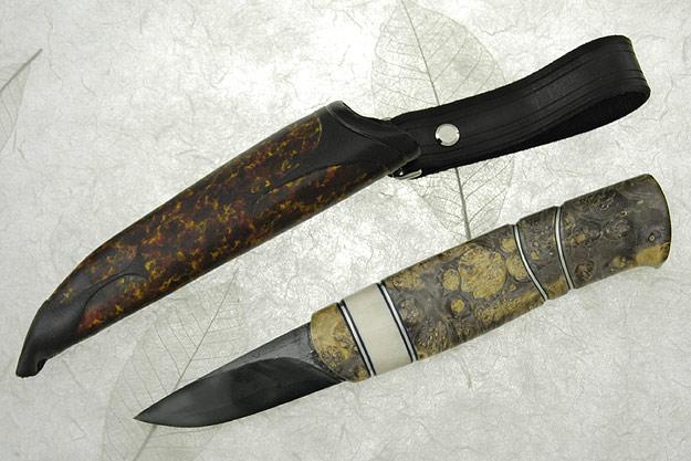 Black and Gold Birch Puukko