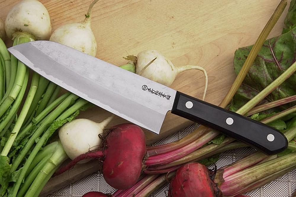 Kansui Dojo Chef's Knife - Aogami Santoku Hocho - 6 3/4 in.