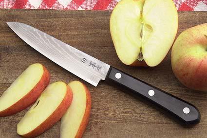 Kansui Ink Pattern Fruit Knife - Suminagashi Fruit Hocho - 5 in.