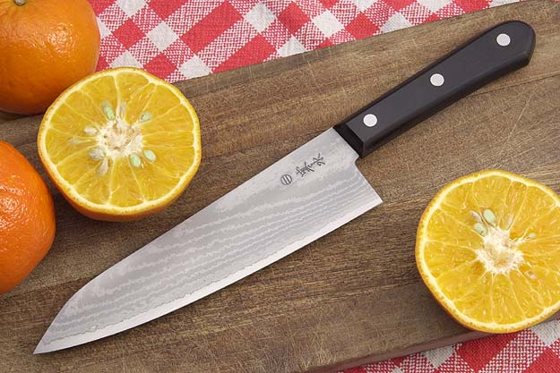 Kansui Ink Pattern Chef's Knife - Suminagashi Gyuto Hocho - 7 1/2 in.