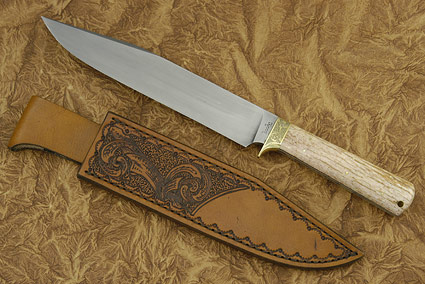 Giraffe Bone Bowie/Camp Knife