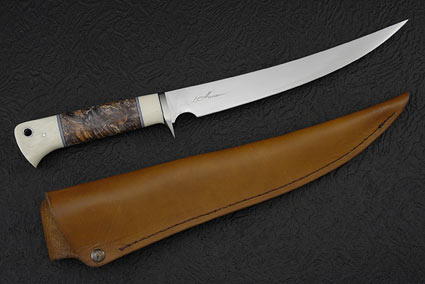 Box Elder Burl Fillet Knife