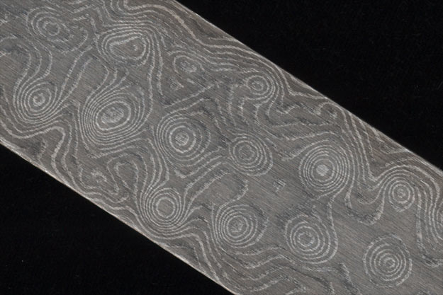 Damascus Bar - Big Dimples, 80 Layer (11 1/2 in. x 1.45 in. x .18 in.)