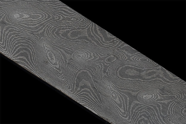 Damascus Bar - Peacock, 100 Layer (14 1/2 in. x 1.42 in. x .2 in.)
