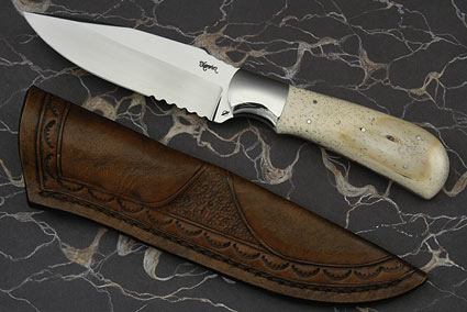 Giraffe Bone Drop Point Hunter