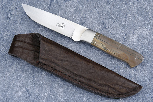 Drop Point Hunter with Mammoth Ivory