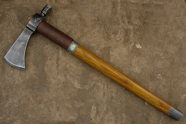 Octagon Barrel Poll Tomahawk with Hickory