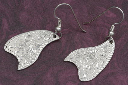 Western Scroll Silver Earrings
