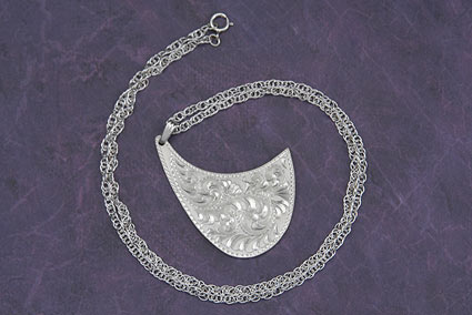 Western Outback Large Silver Pendant