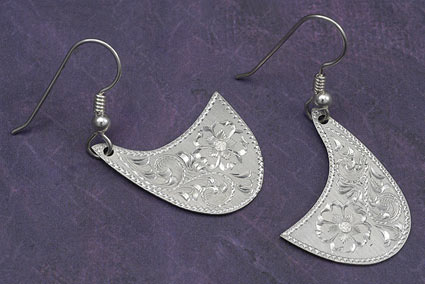 Western Outback Silver Earrings