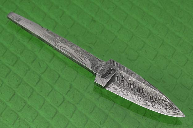 Two Bar Composite Damascus Finished Blade
