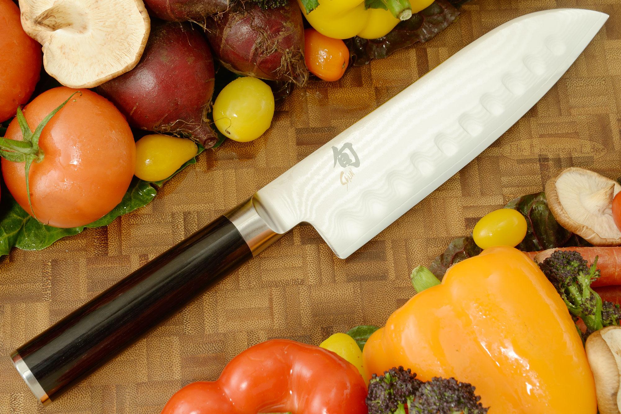 Shun Classic Santoku Knife - 7 in., Scalloped (DM0718)