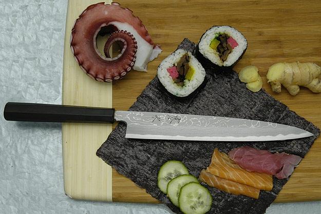 Kansui Suminagashi Right-Handed Yanagiba (Sashimi Knife) - 240mm - with saya
